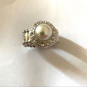 Paparazzi Ring Jewelry Silver White Womans Fashion